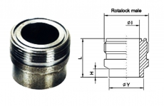 FW Series Steel Male Rotalock Connectors